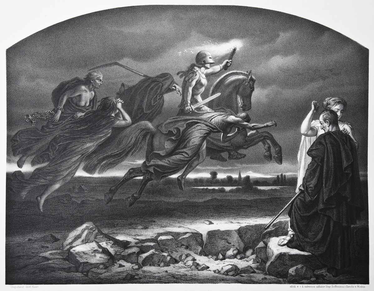 Артур Ґроттґер. Алегорія війни, 1866, літографія