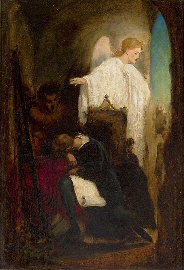 Артур Ґроттґер. Боротьба с сатаною, 1850. Полотно, олія, NMW