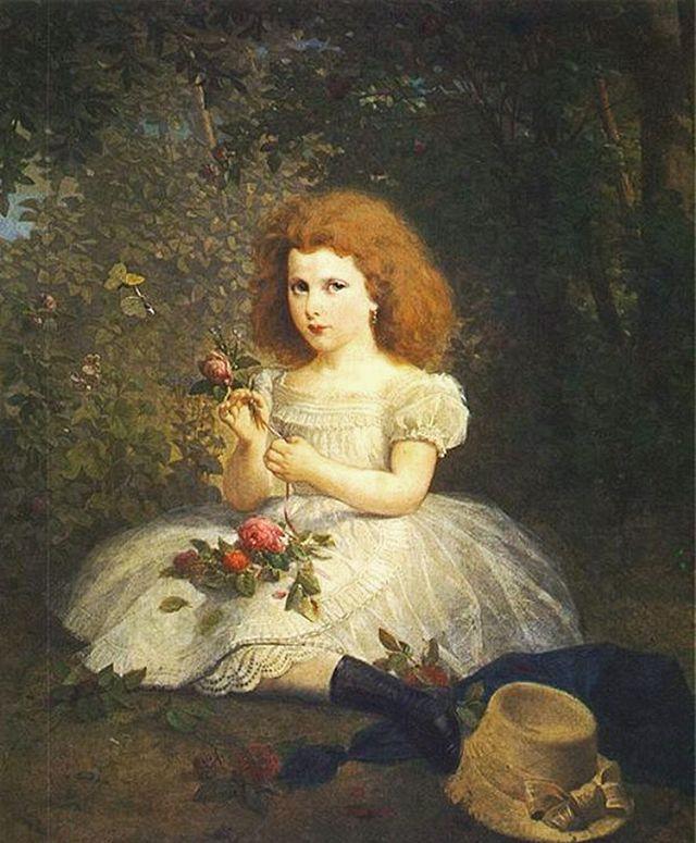 Артур Ґроттґер. Графиня Тун Розалі Матильда, 1860. Полотно, олія