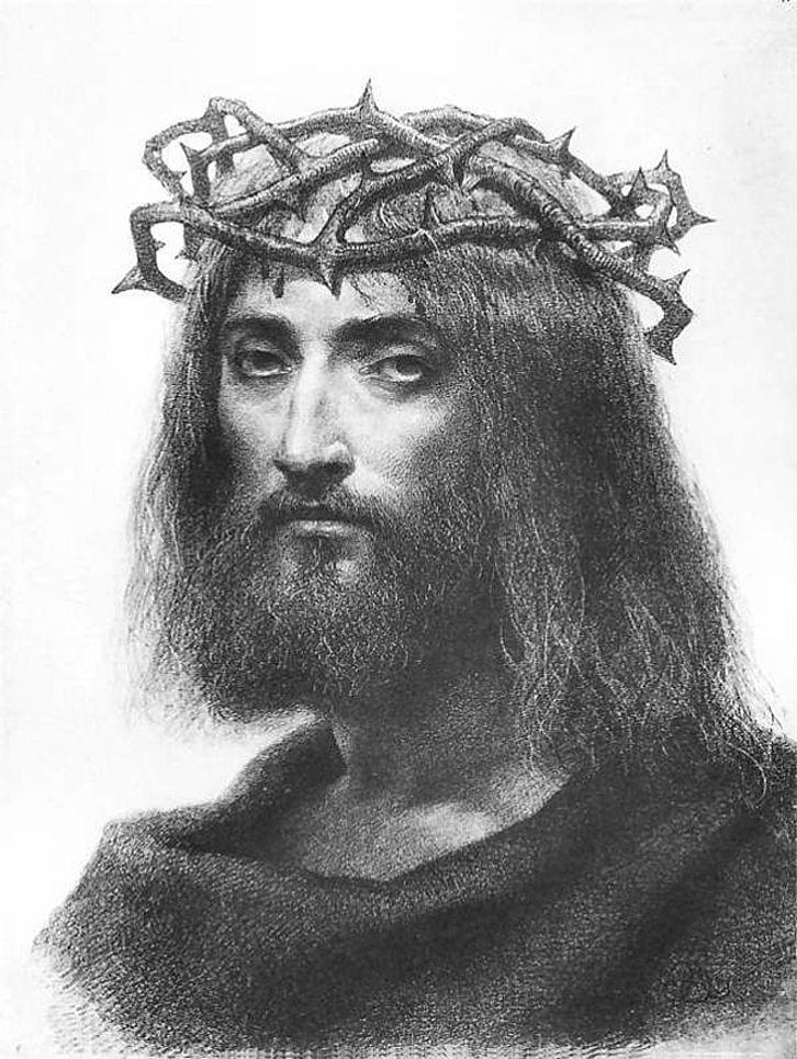 Артур Ґроттґер. Христос в терновому вінці, 1865