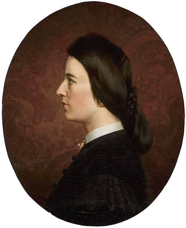 Артур Ґроттґер. Марія сестра художника, 1860-ті. Полотно, олія