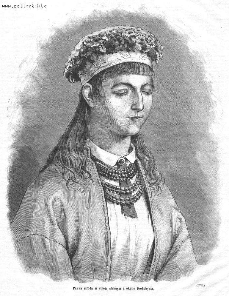 Артур Ґроттґер. Наречена з околиць Дрогобича, 1867, літографія