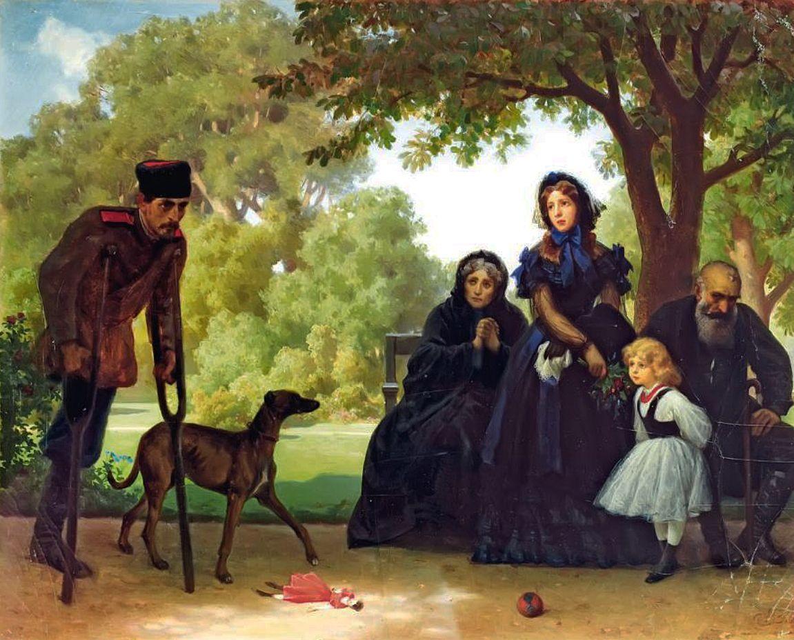 Артур Ґроттґер. В саксонському саду, 1863. MNW