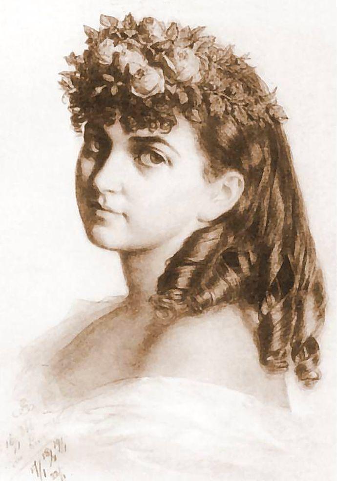 Артур Ґроттґер. Ванда Монне, 1866