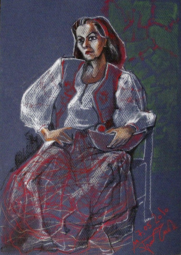 Микола Грималюк. Ескіз портрета, 2010, пастель