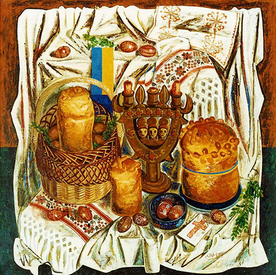 Микола Кристопчук. Гуцульський пасхальний натюрморт, 1990