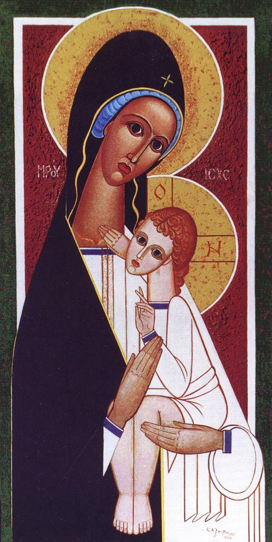 Микола Кристопчук. Матір Божа з дитятком, 2004