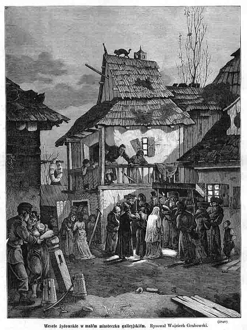 Войцех Грабовський. Єврейське весілля в галицькому містечку, 1877