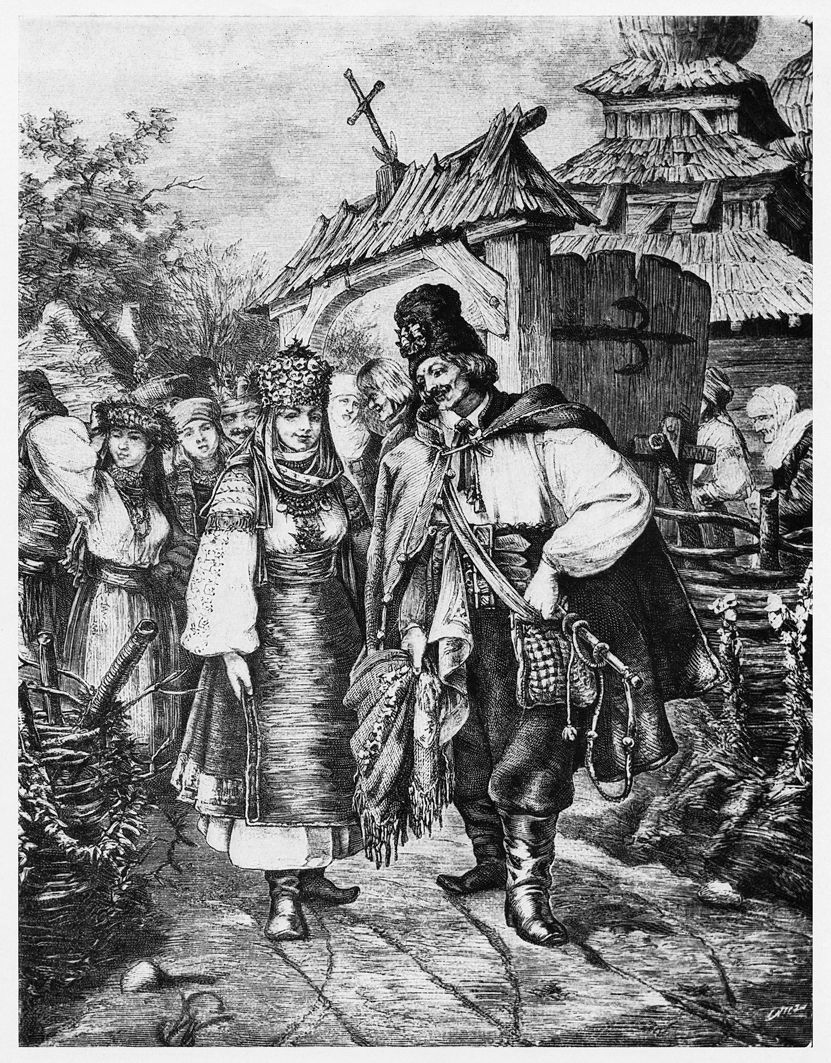 Войцех Грабовський. Молоді з околиць Городенки Покуття, 1884