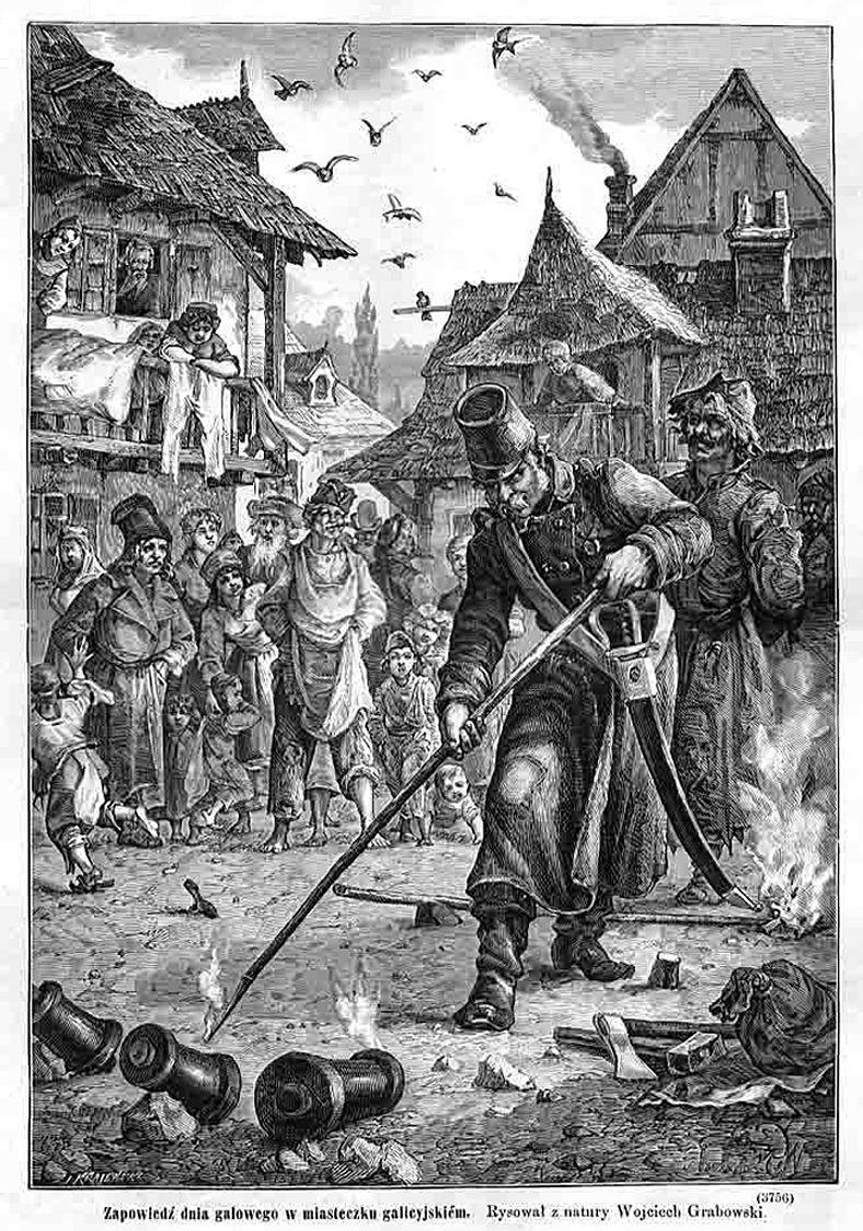 Войцех Грабовський. Проголошення святкового дня в галицькому місті
