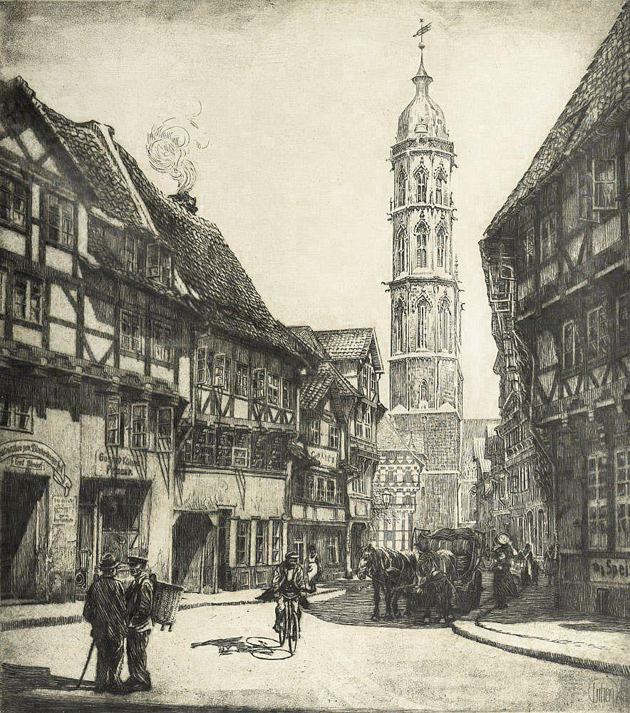 Ефраїм Моше Лілієн. Брауншвейг, 1923, гравюра
