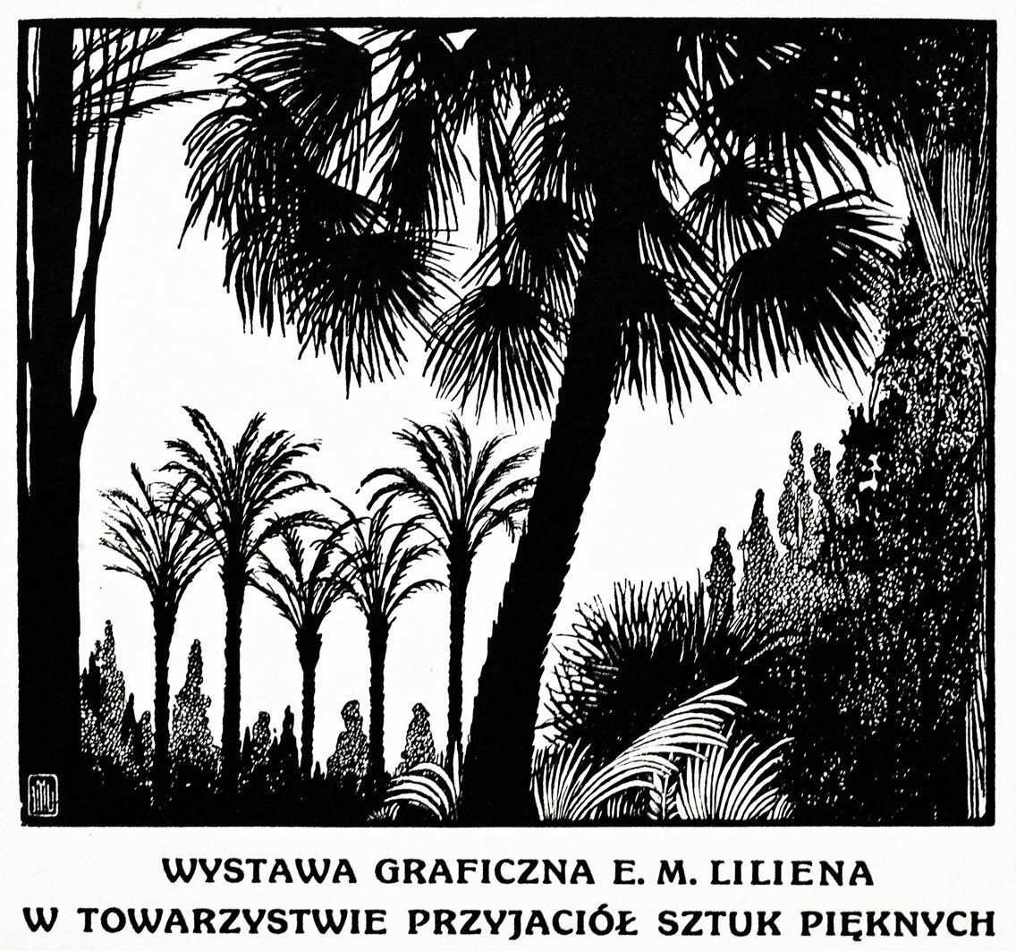 Ефраїм Моше Лілієн. Гравюра до виставки Ліліена у Львові, 1914