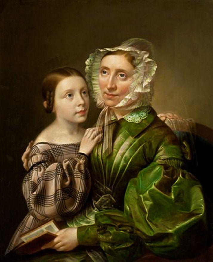 Карл Готлиб Швайкарт. Анна Вандручкова з донькою, 1837. NMW