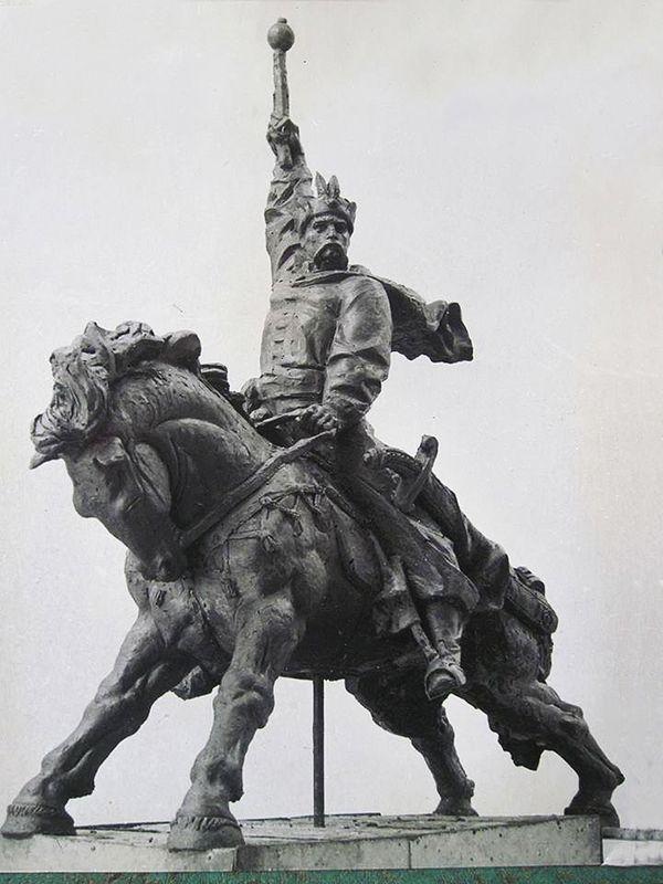 Валентин Борисенко. Богдан Хмельницький, ескіз