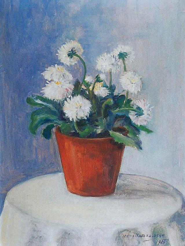 Ірина Новаківська-Ацеданська. Квіти в горщику, 1924