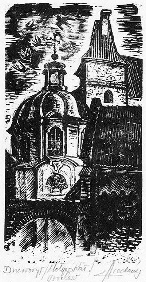 Зигмунт Ацеданський. Вроцлав катедра, 1960-ті, дереворит