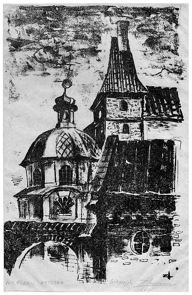 Зигмунт Ацеданський. Вроцлав катедра, 1960-ті, лінорит