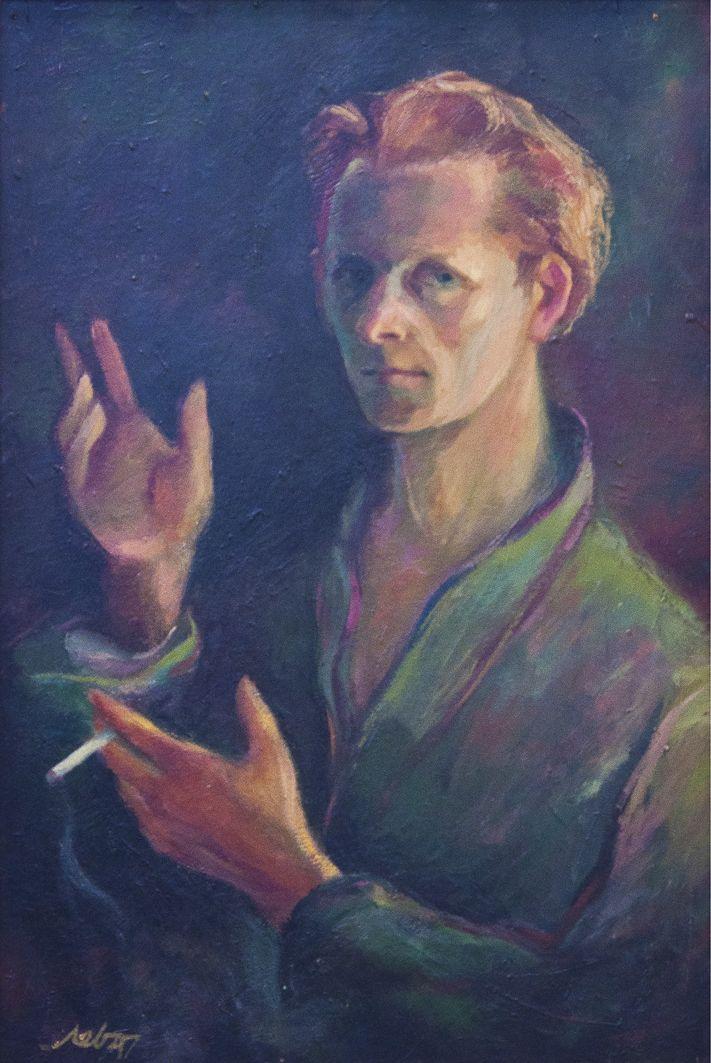 Мирон Левицький. Автопортрет, 1947