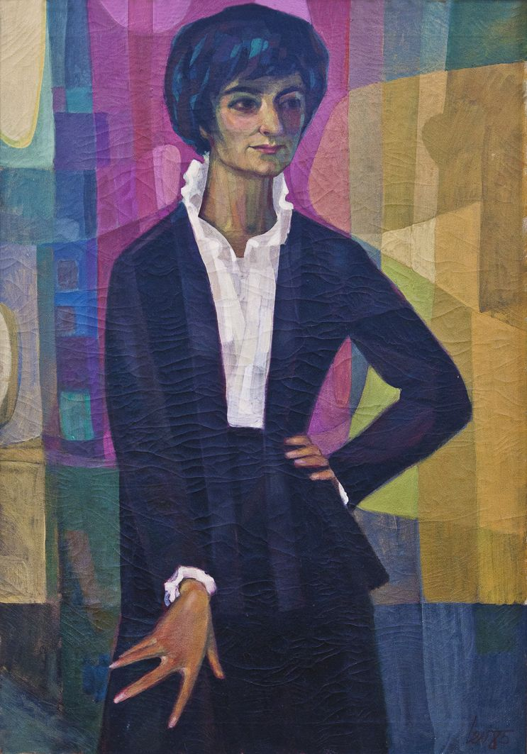Мирон Левицькиq. Портрет дружини Галини, 1985