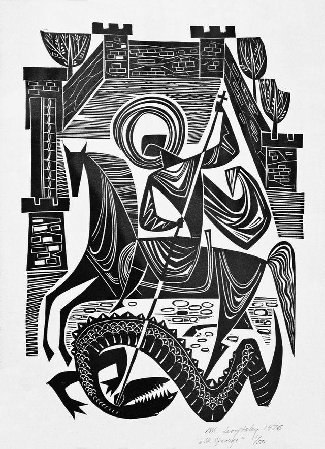 Мирон Левицький. Святий Юрій, 1976, лінорит