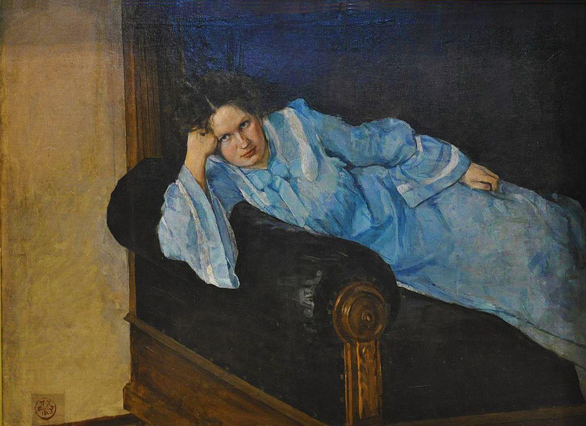 Петро Холодний. Дружина в голубому, 1903