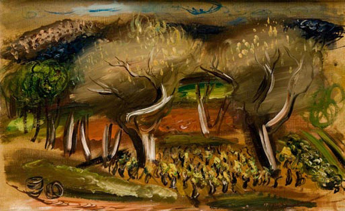 Зигмунт Менкес. Пейзаж Провансу, 1927