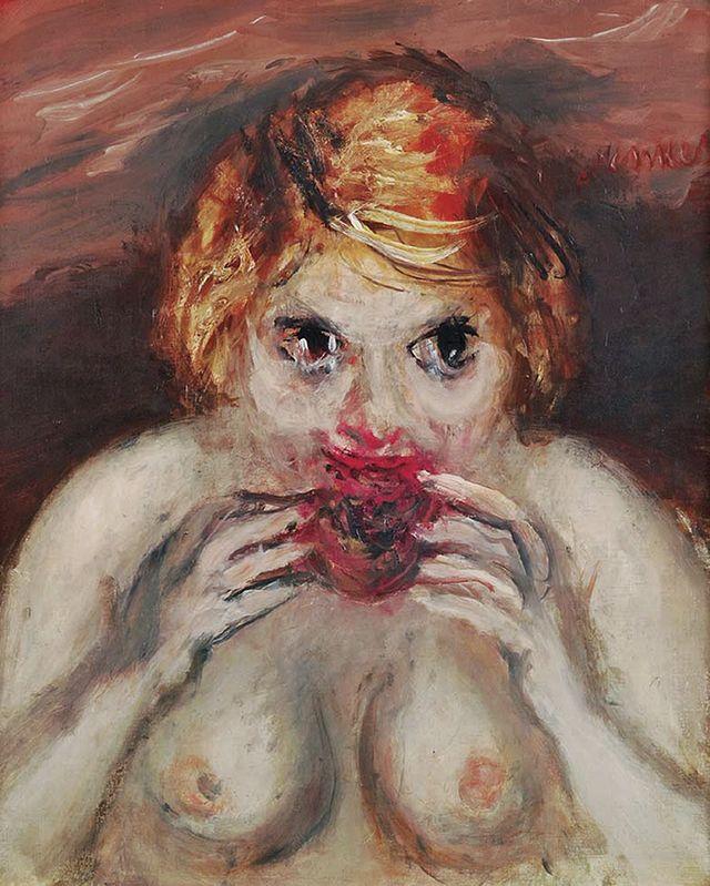 Зигмунт Менкес. Жінка, що їсть гранат, 1939