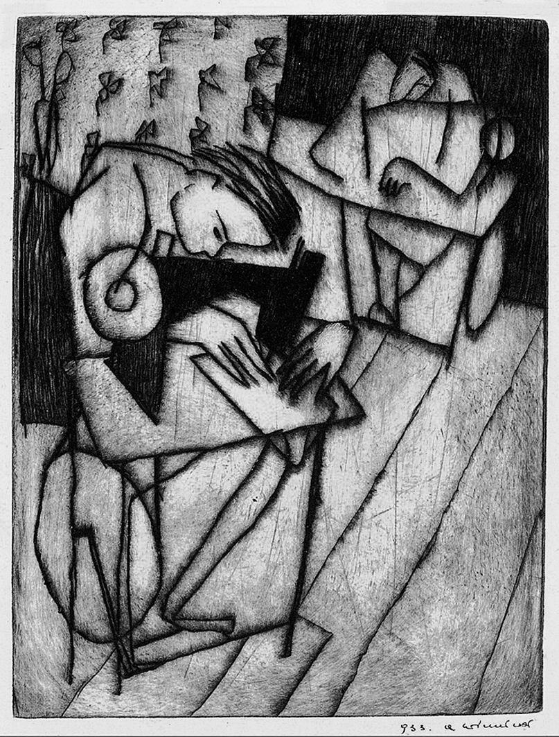 Олександр Винницький. Швачка, 1933; суха голка