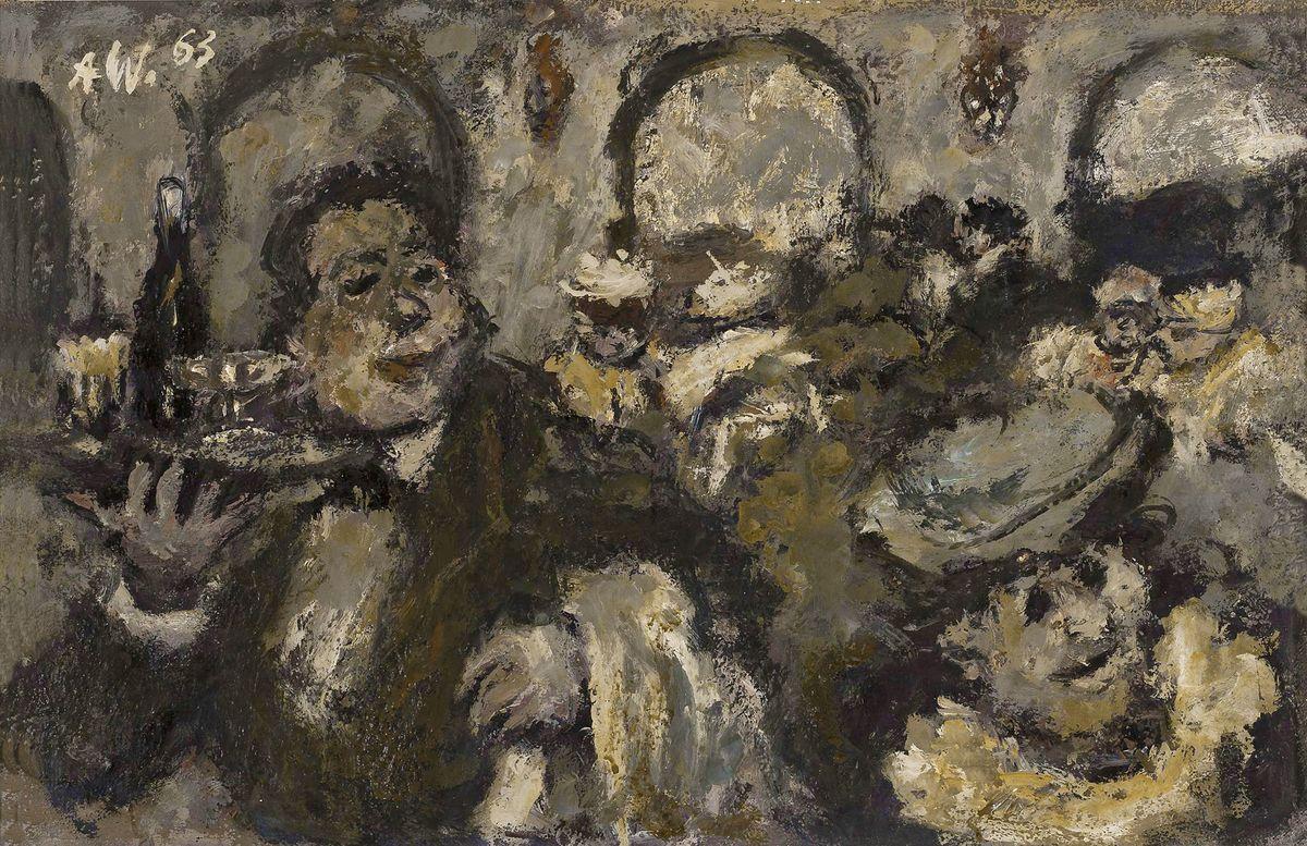 Олександр Винницький. В ресторані, 1963, х,м ; NMW