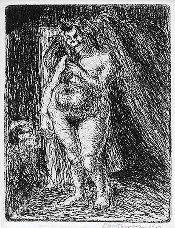 Станіслав Осостович. Єва, 1930, офорт
