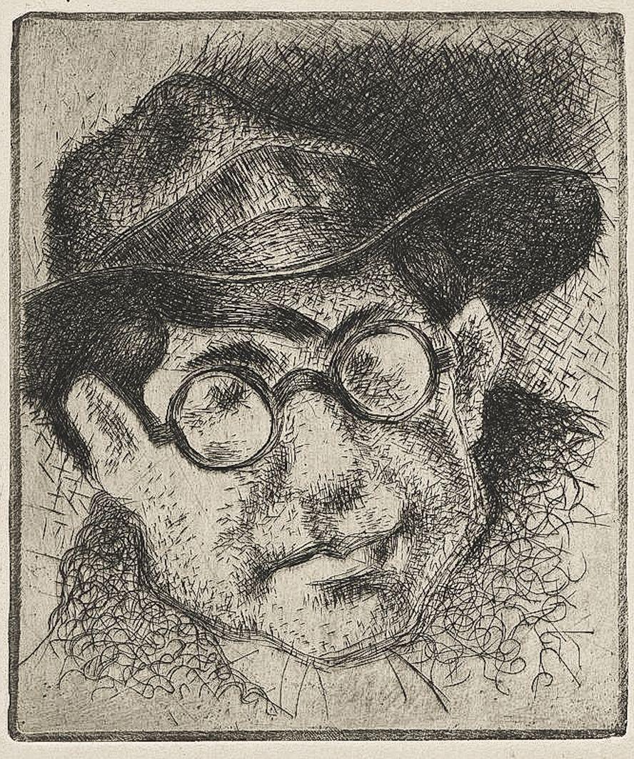 Станіслав Осостович. Леопольд Левицький, 1932, офорт