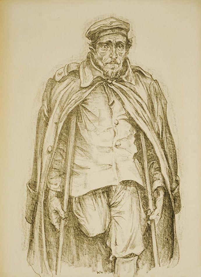 Вільгельм Вахтель. Для кого, 1936; літографія