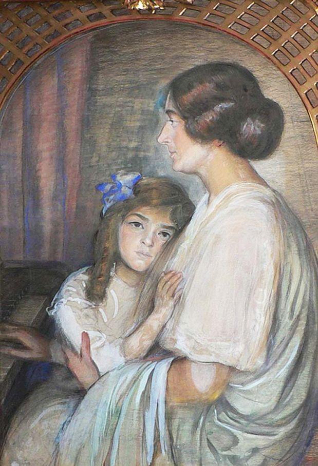 Вільгельм Вахтель. Біля фортепіано, 1914; пастель