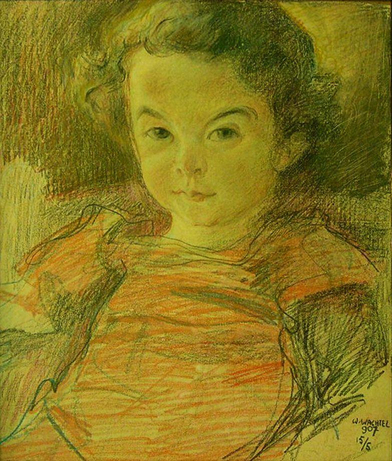 Вільгельм Вахтель. Портрет дівчинки, 1905