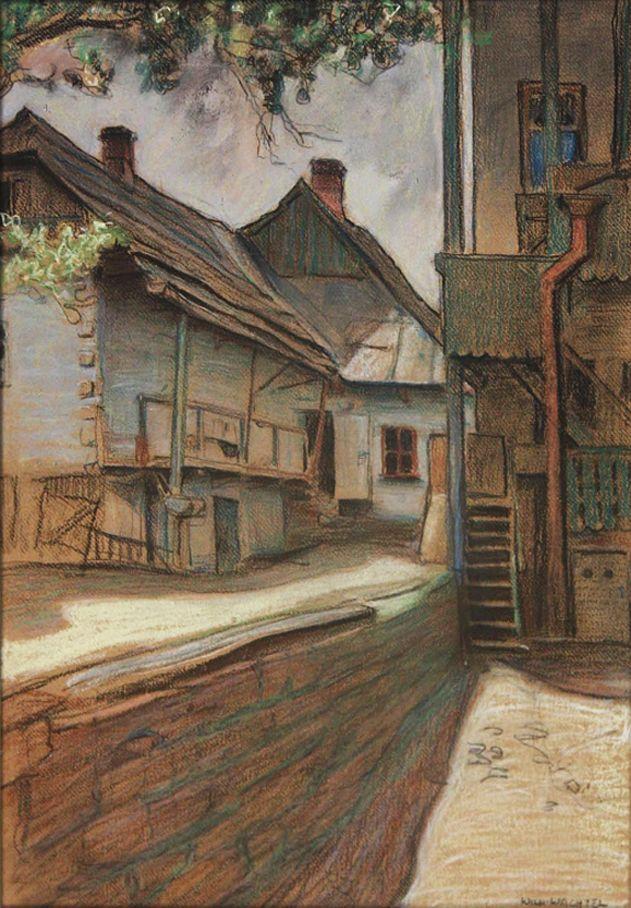 Вільгельм Вахтель. Міський куточок, 1909
