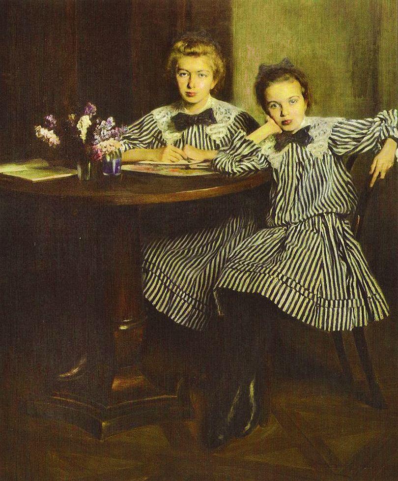 Олександр Авґустинович. Діти художника, 1907