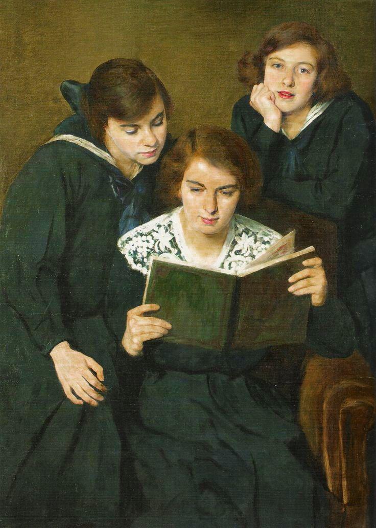Олександр Авґустинович. Дочки художника, 1907