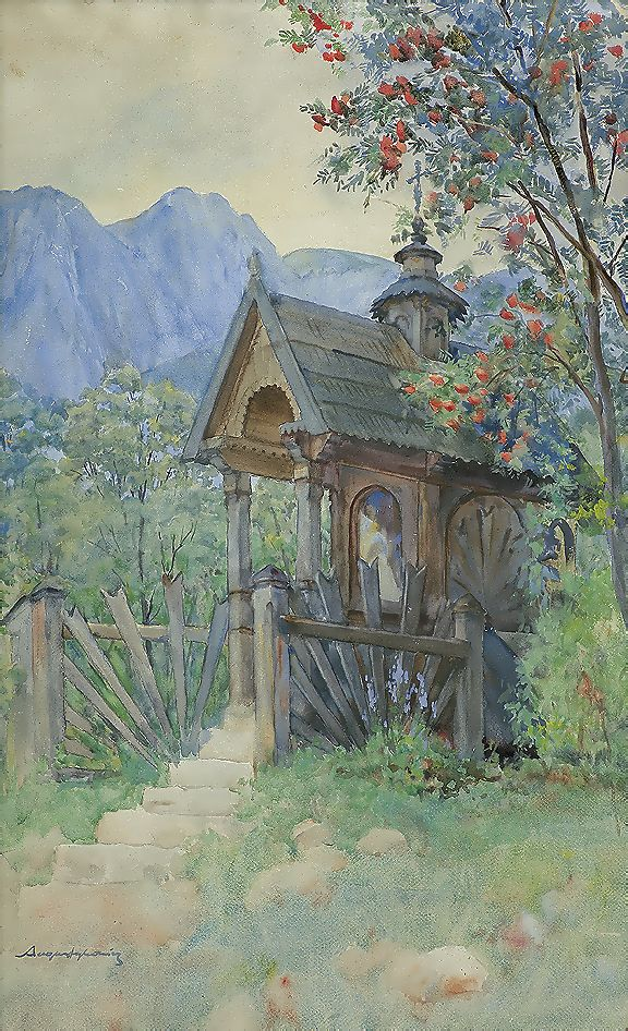Олександр Авґустинович. Каплиця в горах, 1907