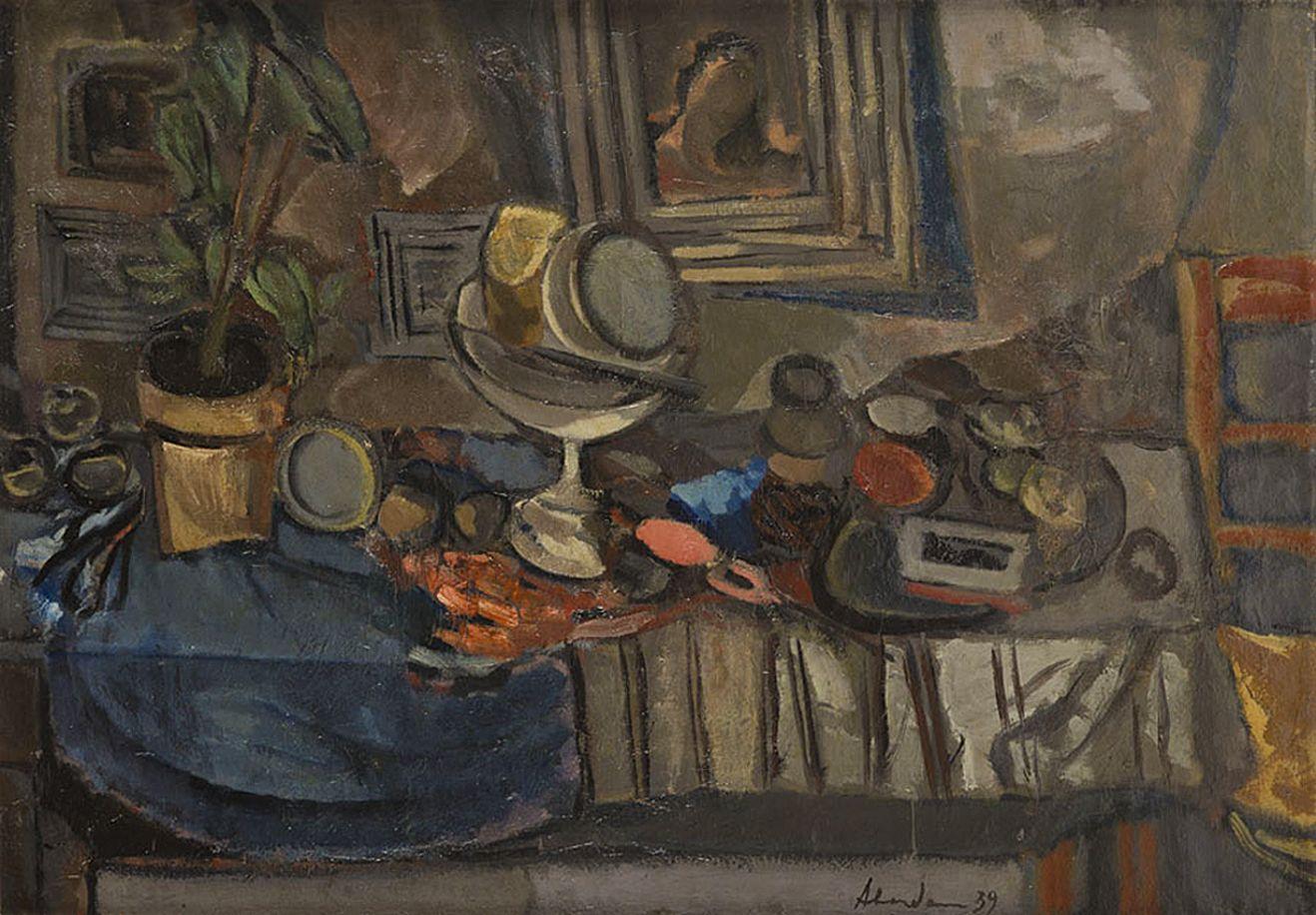 Альфред Абердам. Натюрморт, 1939