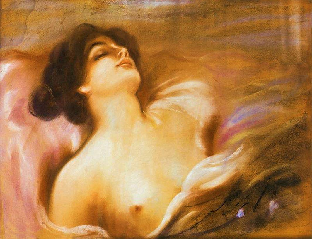Францішек Жмурко. Ню, 1900; пастель; MNG