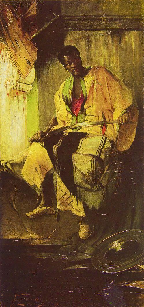 Францішек Жмурко. Нубієць, 1884; п,о; ЛНГМ