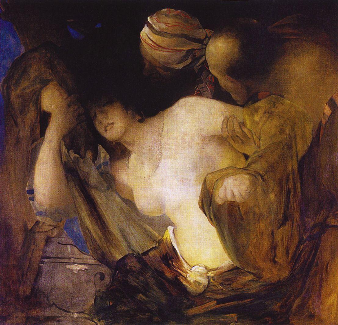 Францішек Жмурко. Сусанна і старці, 1879; п,о; NMK