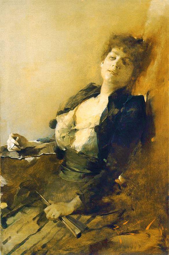 Францішек Жмурко. Жінка з сигаретою, 1891; п,о; MNP