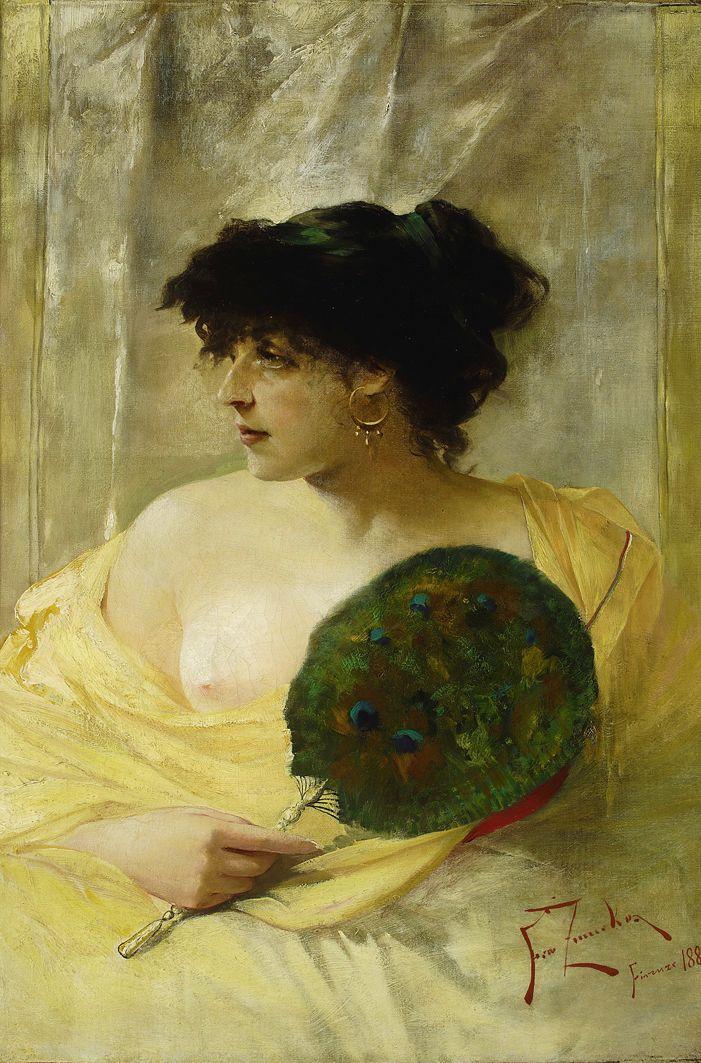 Францішек Жмурко. Жінка з віялом, 1884; п,о; MNW