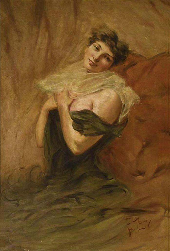 Францішек Жмурко. Жіночий портрет, 1895; п,о; NMW