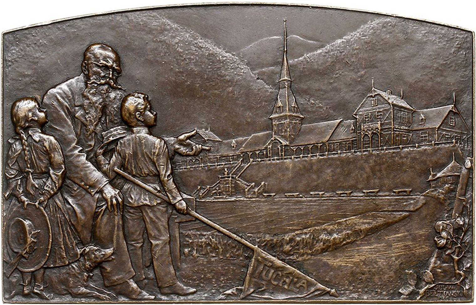 Юліуш Войцех Белтовський. Тухля табір дітей залізничників, 1905, бронза, NMW