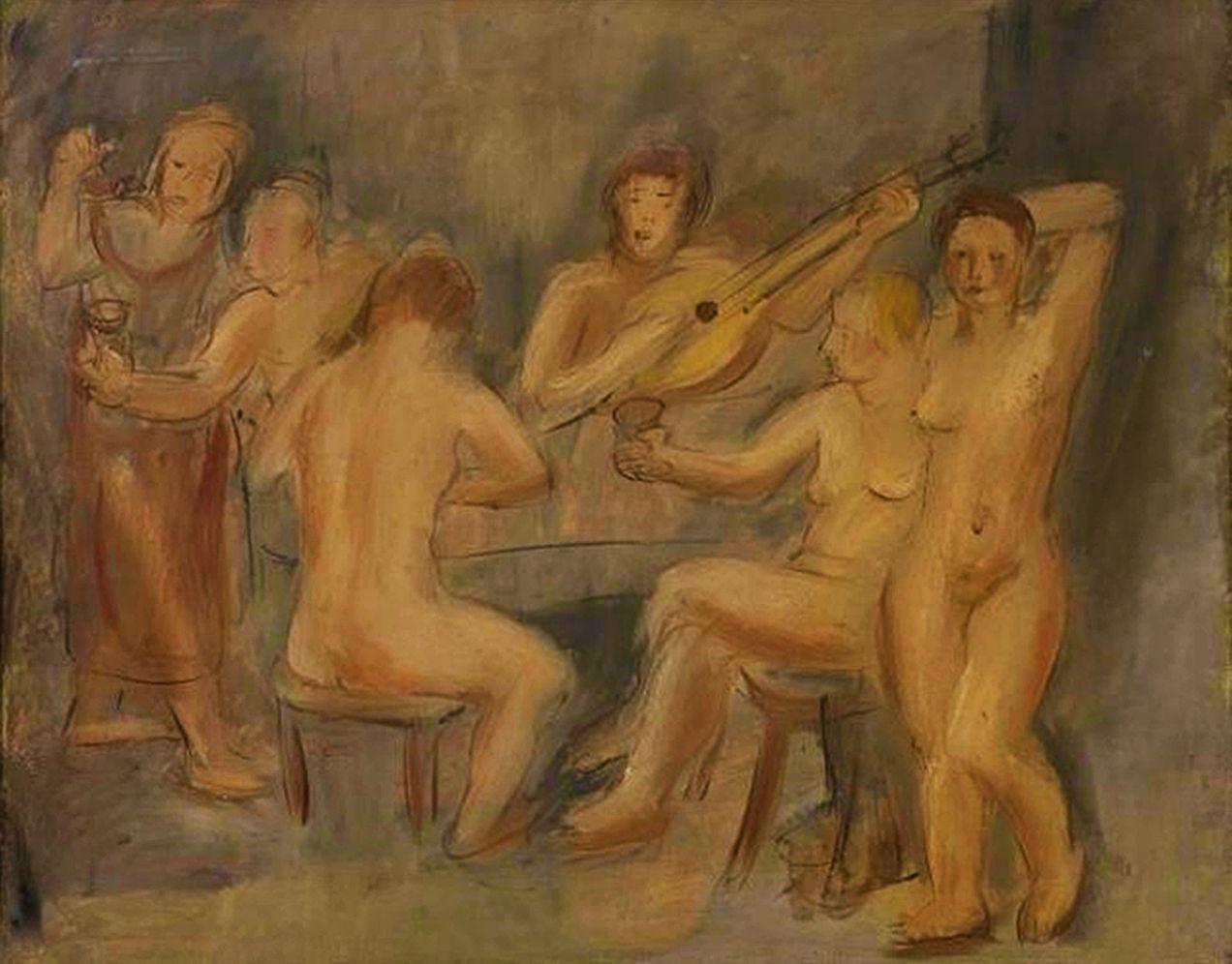 Йоахім Вайнгарт. Ню за столом, 1920-ті