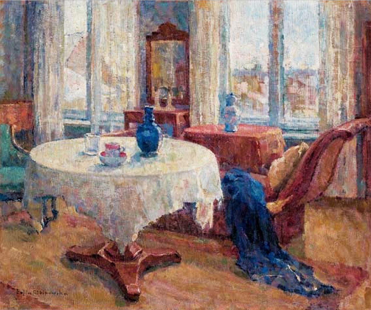Софія Альбіновська-Мінкевич. Інтер'єр кімнати художниці, 1960-ті