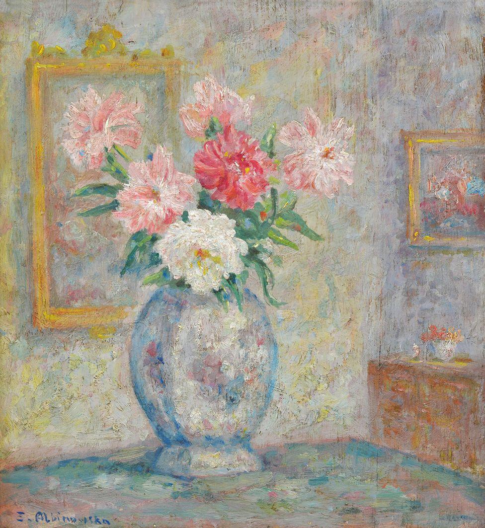 Софія Альбіновська-Мінкевич. Квіти в інтер'єрі, 1930-ті