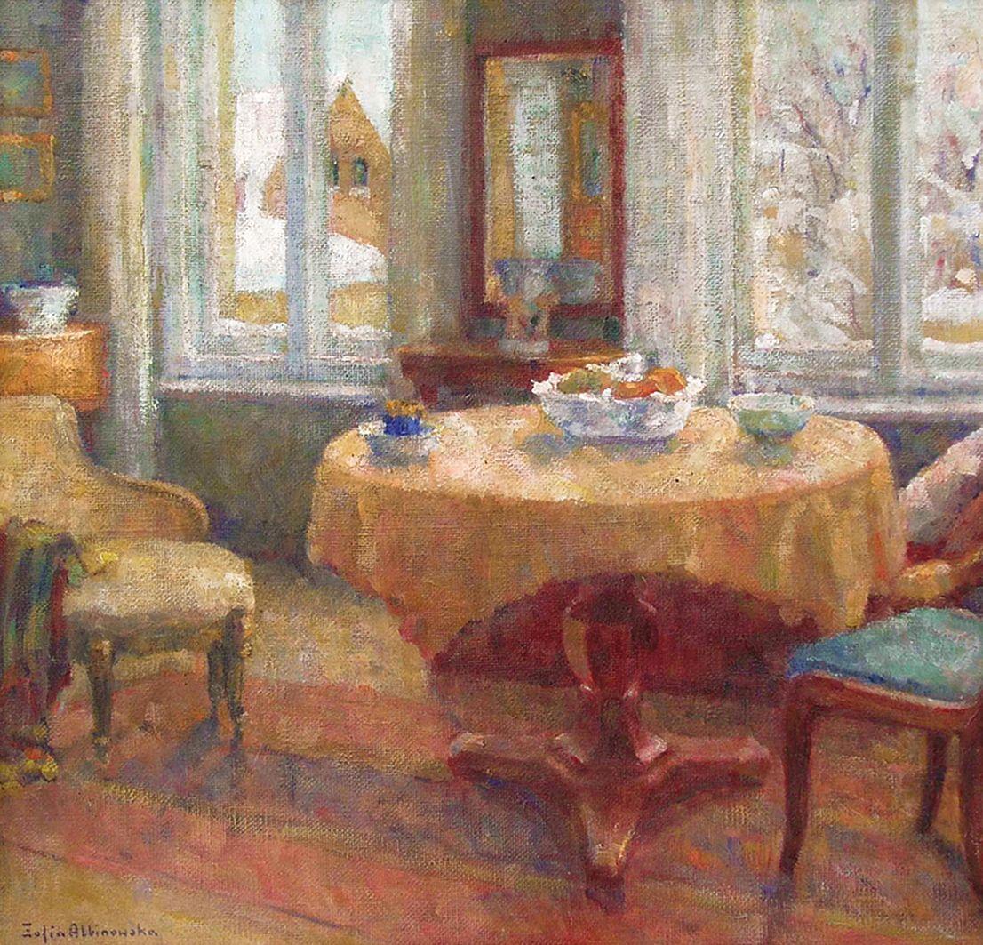Софія Альбіновська-Мінкевич. Морозний день, 1963